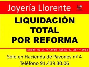 Liquidación en Joyerías Llorente, uno de los patrocinadores de la EDM