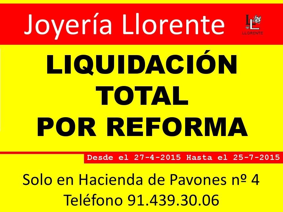 Joyería Llorente, patrocinador de la EDM, inicia una liquidación por reforma con descuentos de hasta el 50%