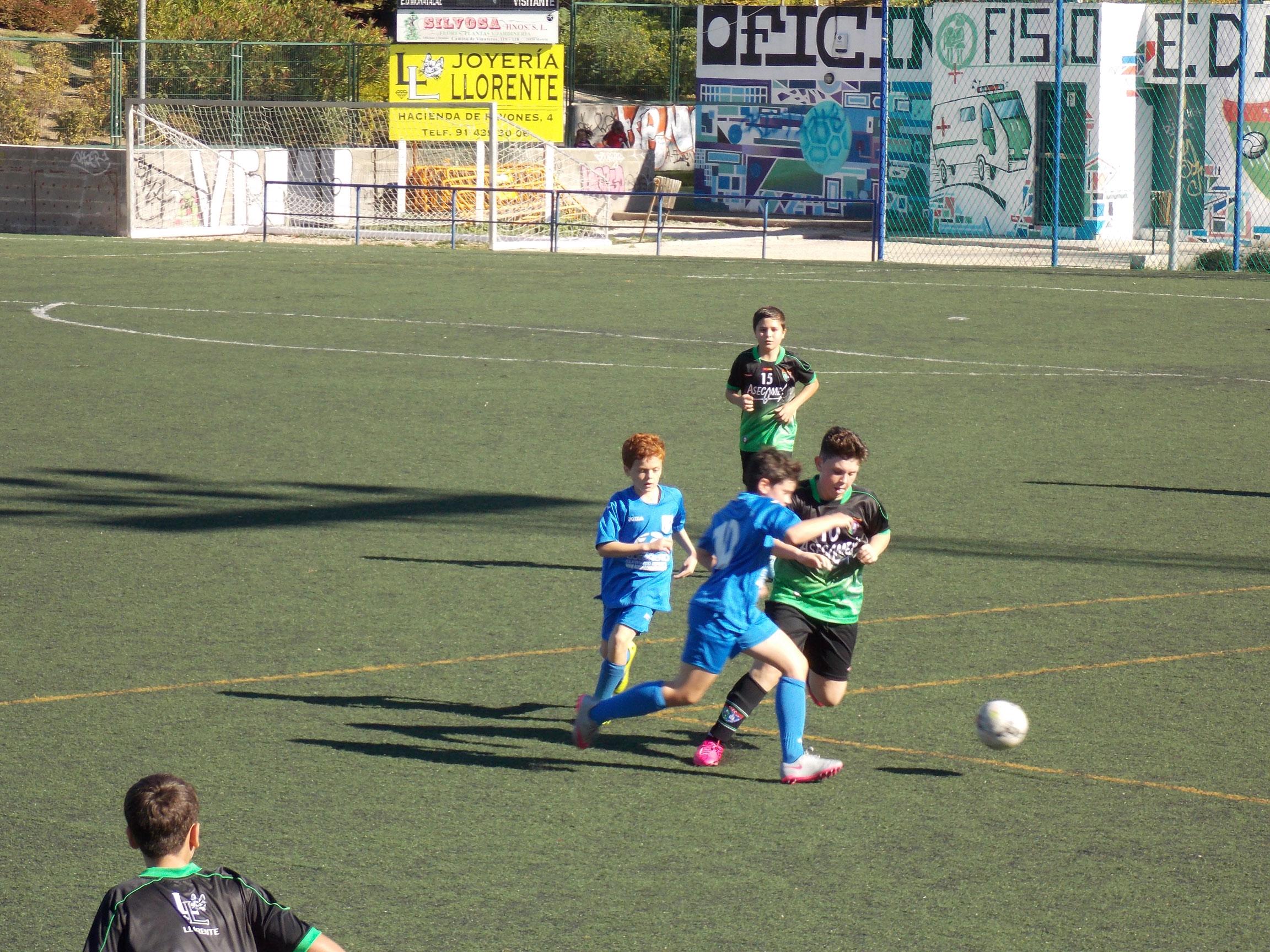 Crónica y fotos del partido de liga EDM Alevín B 1 – 2 AD Villa Rosa B