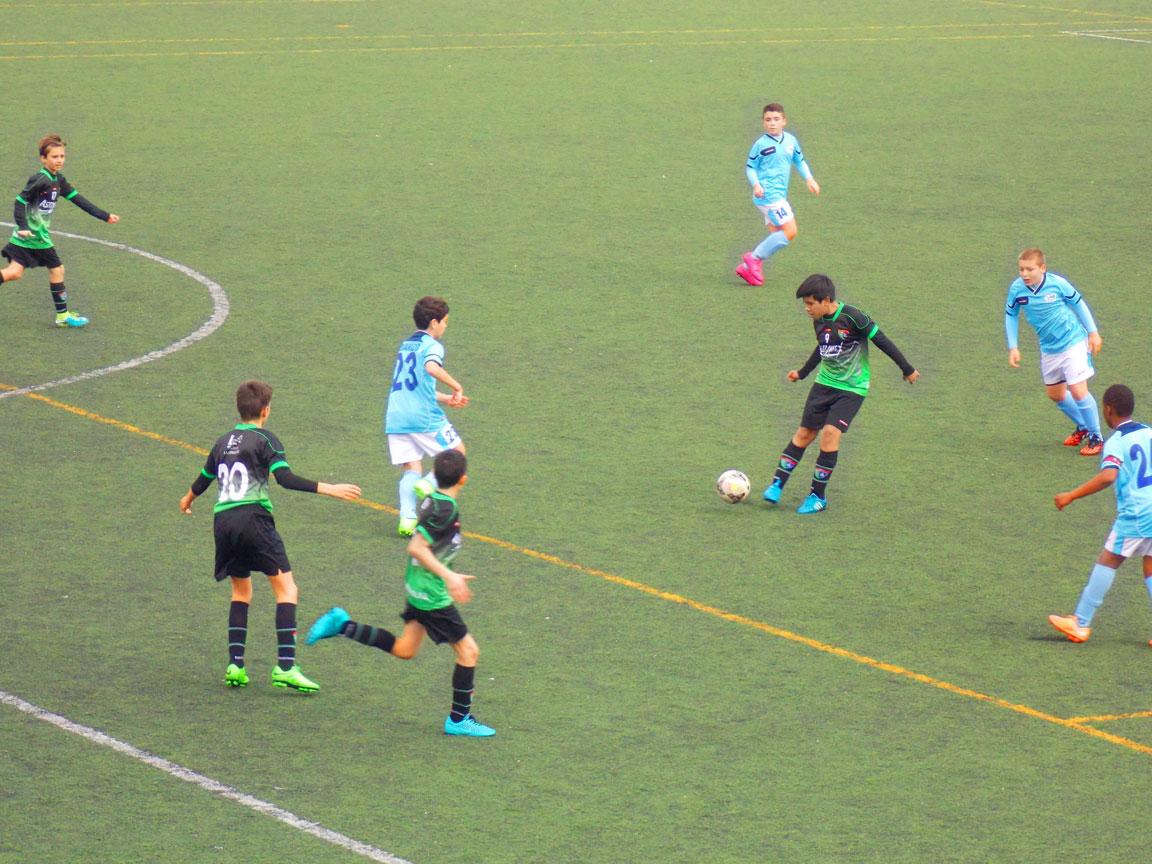 Crónica y fotos del partido de liga EDM Alevín B 0 – 1 CD DOSA B