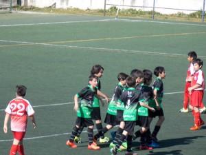 Foto del partido de liga del Infantil B