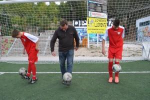 Tocando el balón