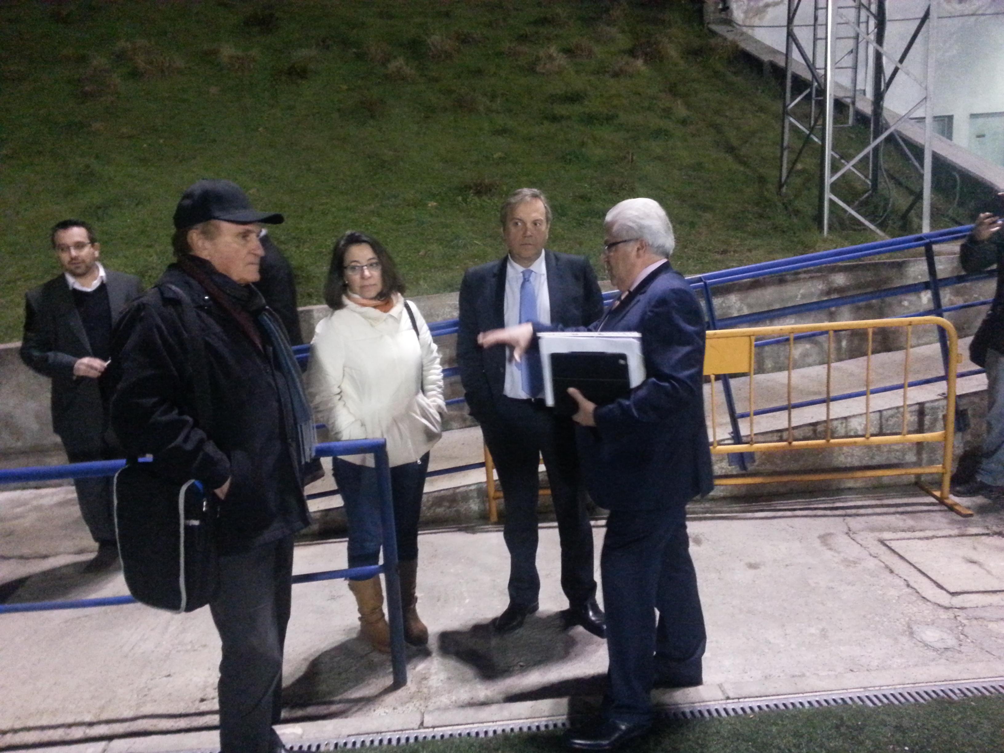 El candidato socialista a la alcaldía de Madrid, Antonio Miguel Carmona, visita la sede de la EDM