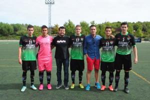 Los propietarios de Asecomex y Futsal, con la EDM