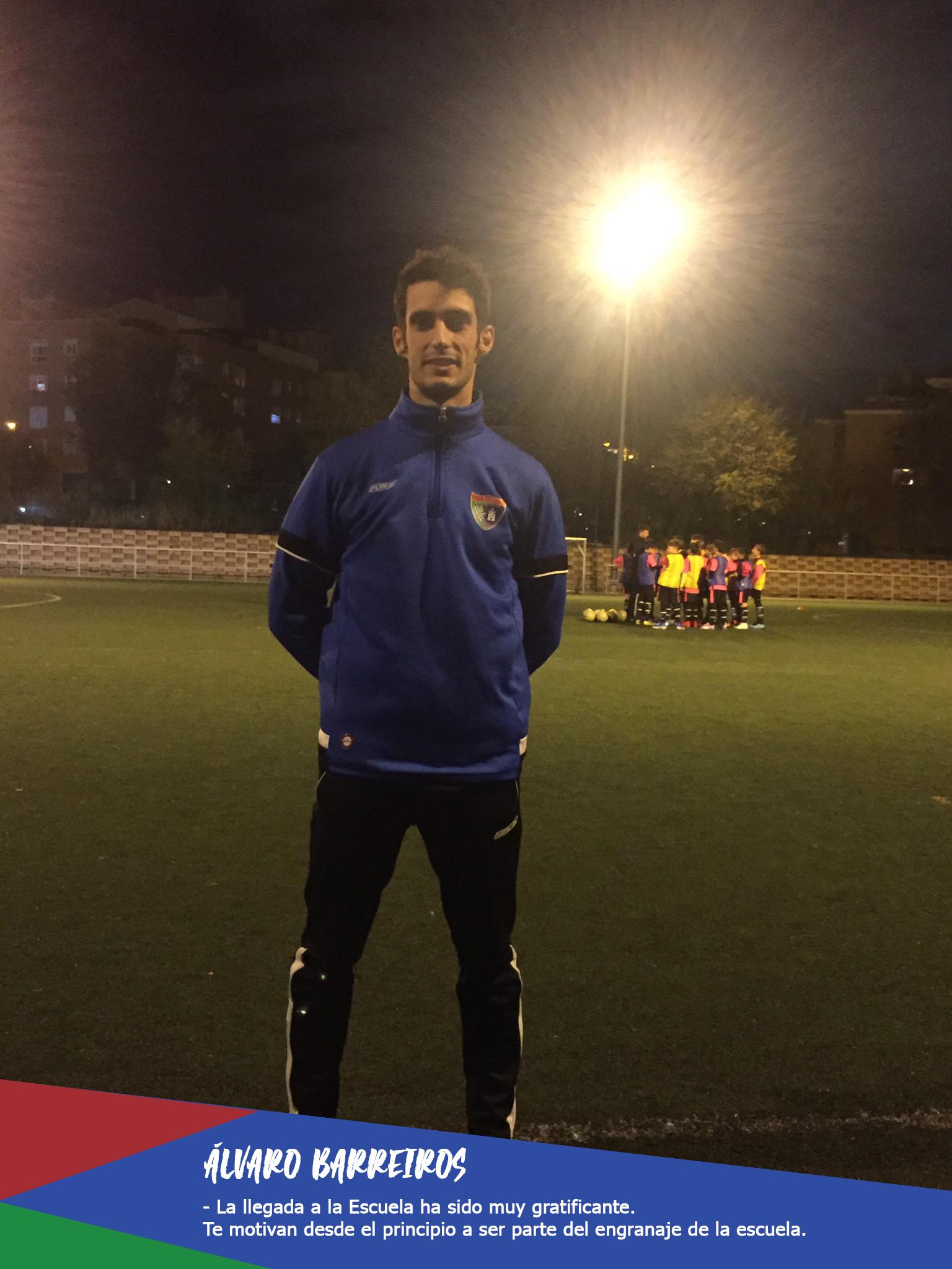 ENTREVISTA | Alvaro Barreiros: «La llegada a la Escuela ha sido muy gratificante. Te motivan desde el principio a ser parte del engranaje de la Escuela»