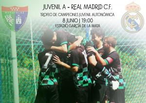 Cartel Juvenil a real Madrid