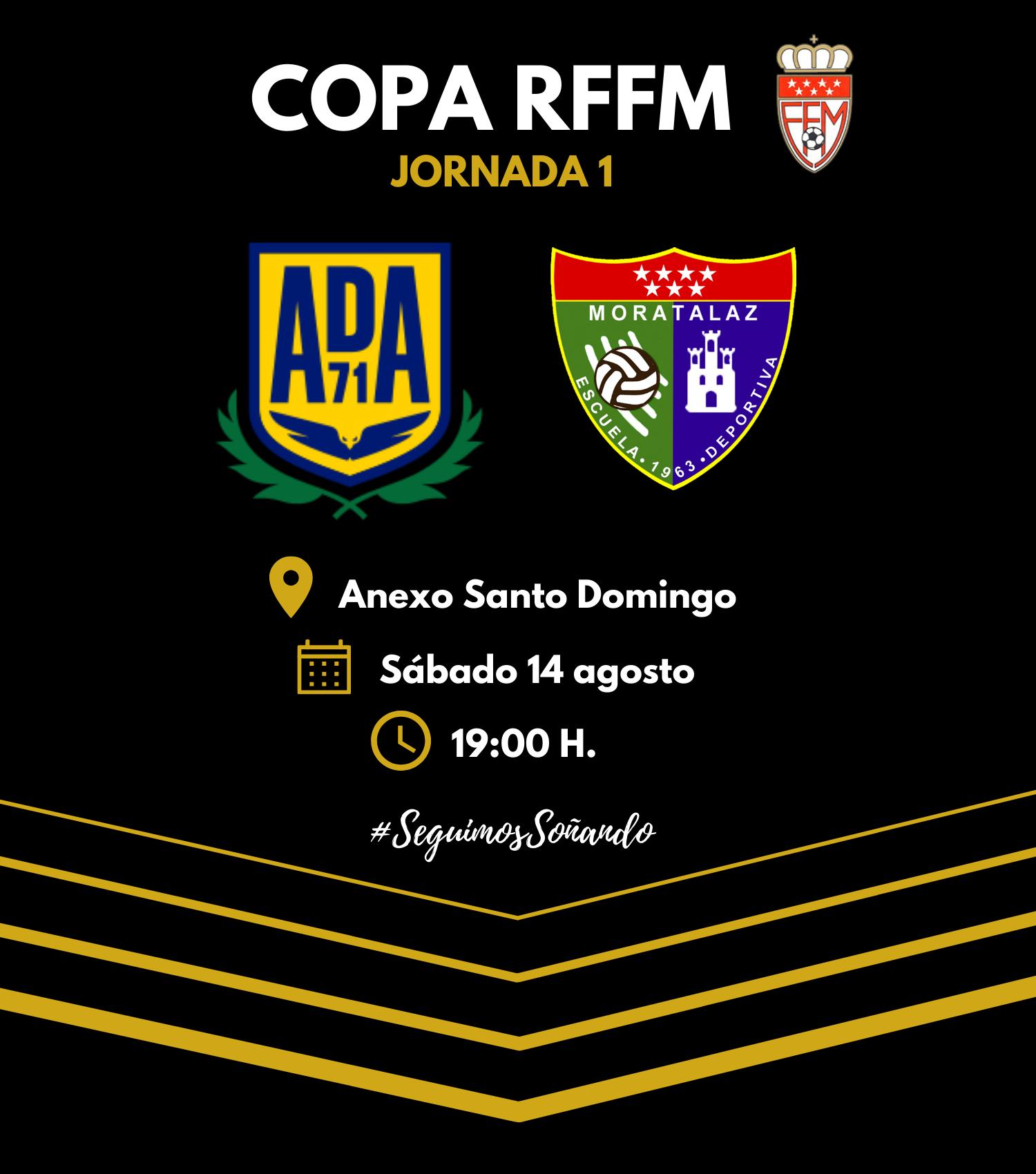 El Primer Equipo visita al AD Alcorcón B en el primer partido de Copa RFFM
