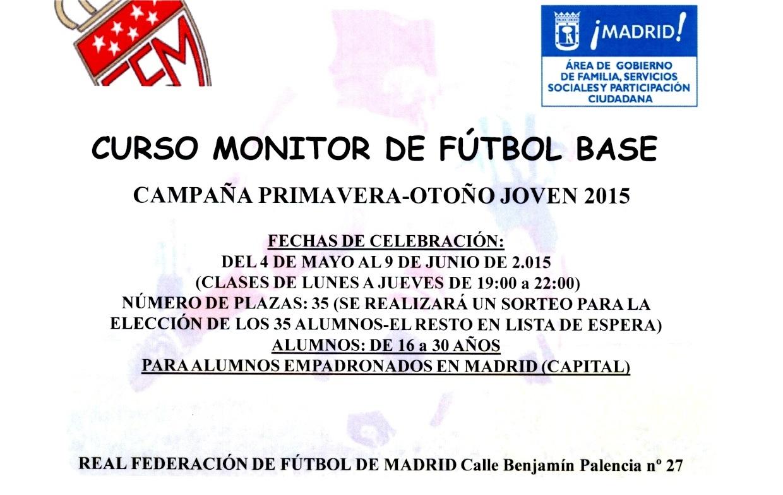 Curso de monitor de fútbol base organizado por la Federación de Fútbol de Madrid