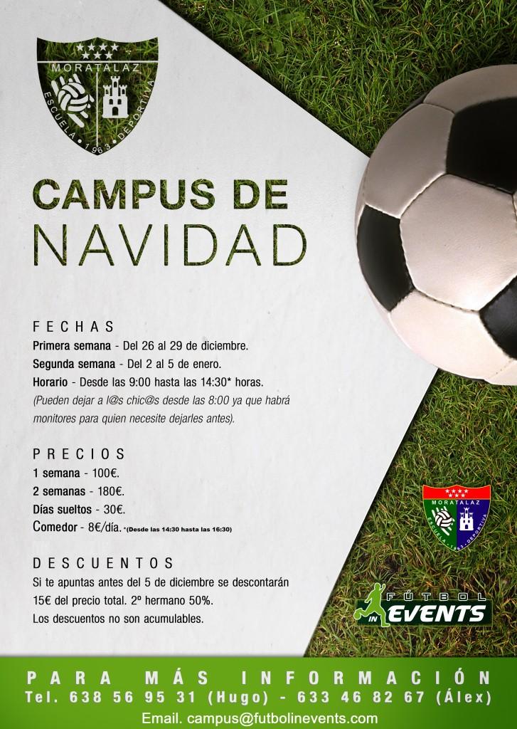 Moratalaz albergará una de las sedes del Campus de Navidad Fútbol In Events