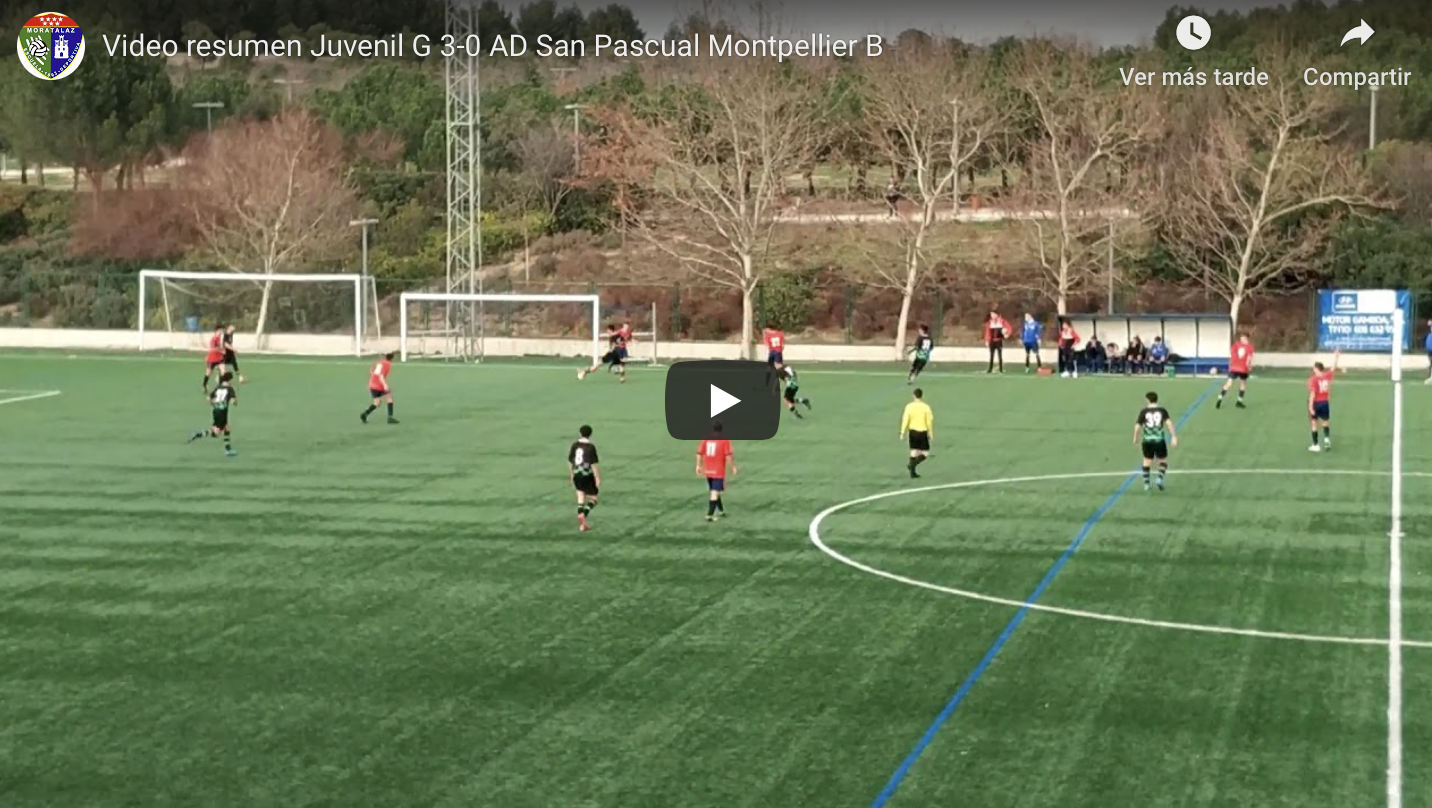 Vídeoresumen Juvenil G – AD San Pascual Montpellier
