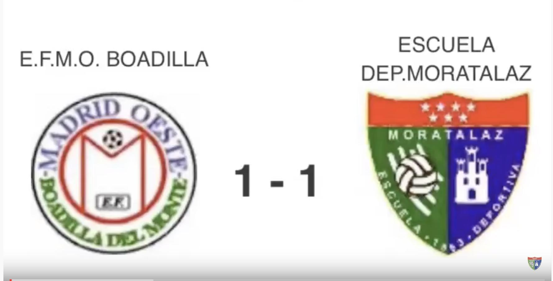Vídeoresumen | EFMO Boadilla 1-1 Juvenil A