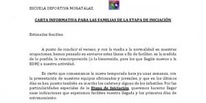 Carta de iniciación en la EDM