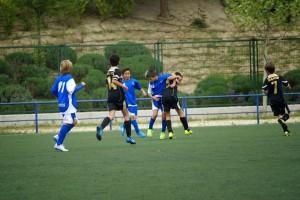 El Alevín C no pudo pasar del empate a uno ante el Marianistas Amorós
