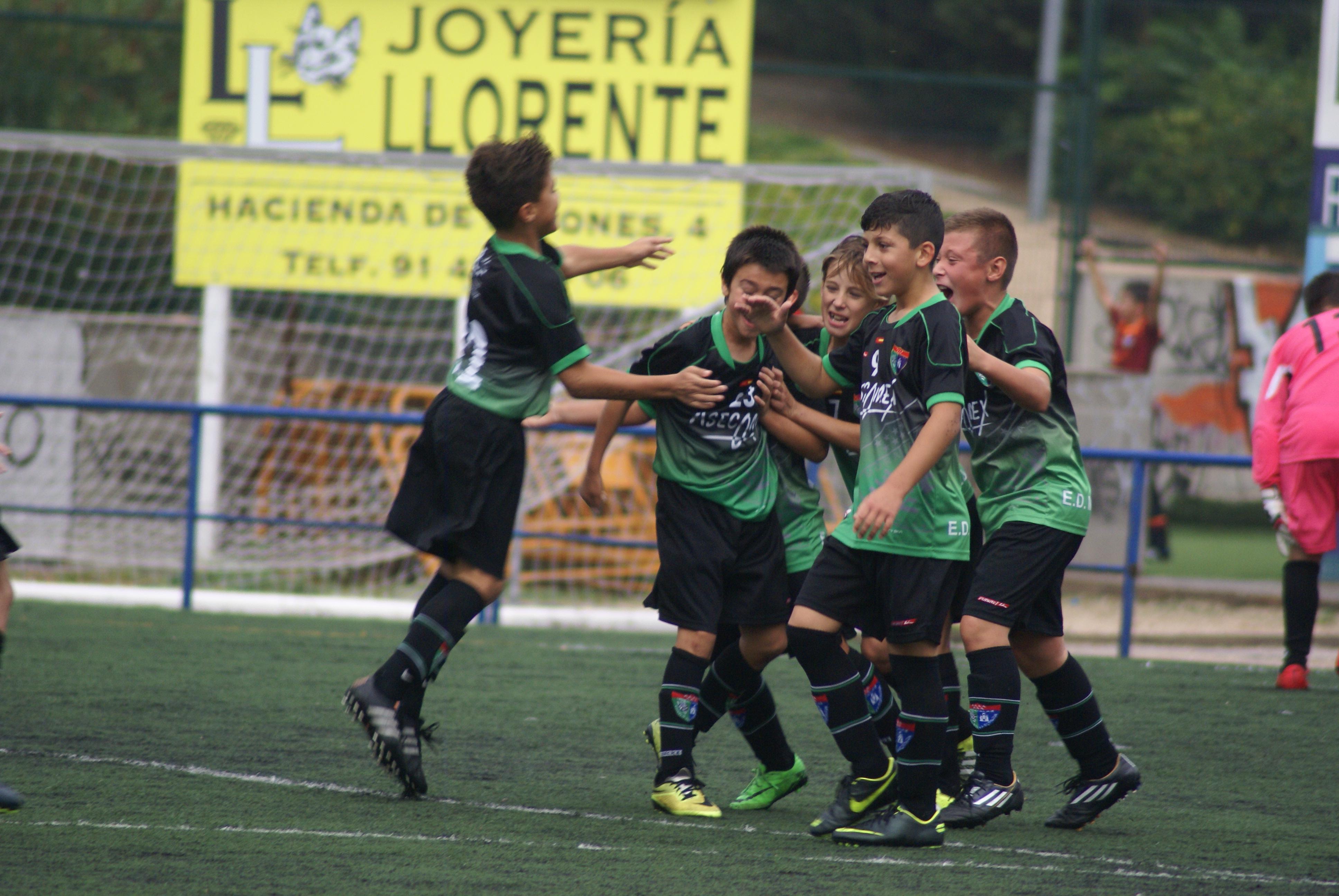 Fotos del partido de liga EDM Alevín A 3 -0 EF Arganda A
