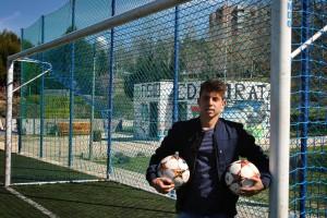 Alberto Lozano, jugdor del Real Madrid, C, comenzó en la EDM