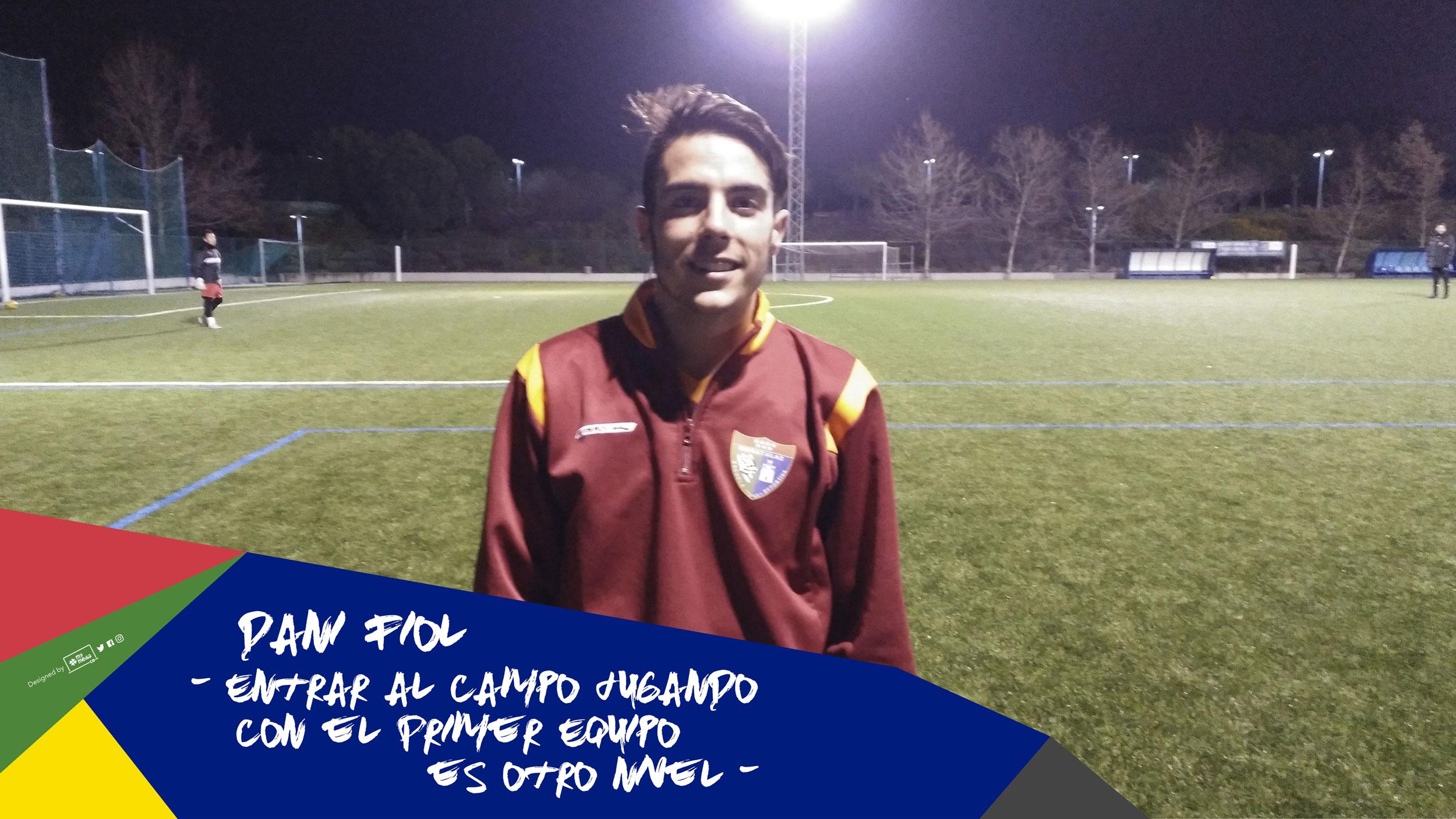 """Dani Fiol: """"Entrar al campo jugando con el Primer Equipo es otro nivel"""""""
