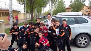 Los jugadores del Alevín C, en la Real Sitio Cup