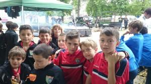Jugadores del Benajmín C en la Real Sitio Cup