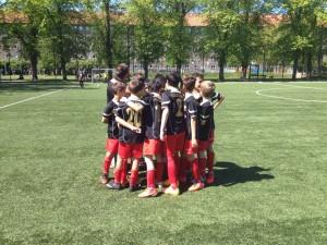 Los equipos Alevín C e Infantil b de la EDM, en Copenhague
