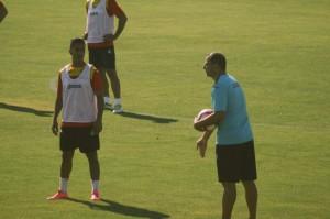 Antonio Vargas con el Getafe CF