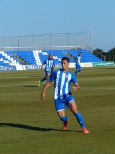 Adrián Fuentes con el Lorca CF