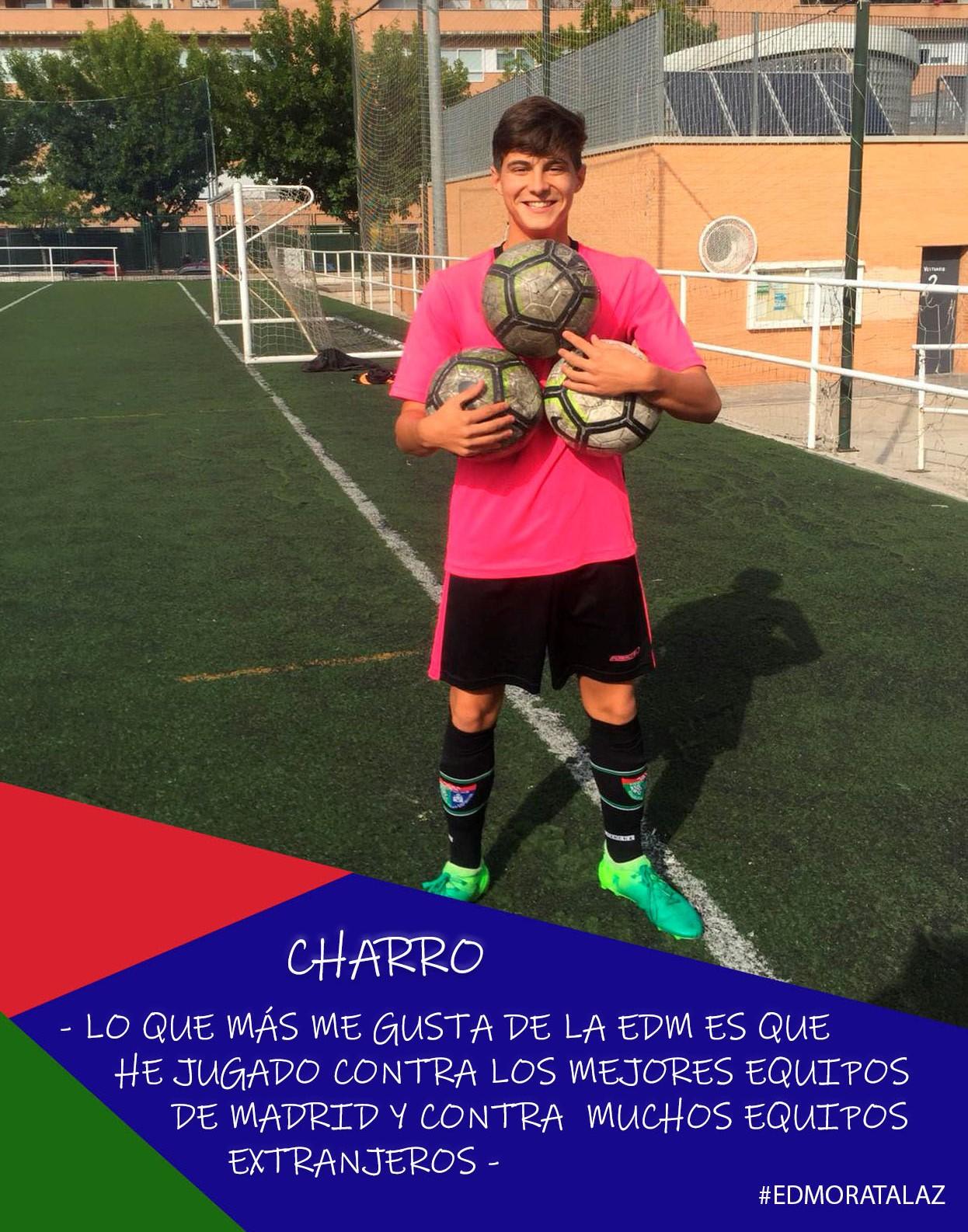 Charro: «Lo que más me ha gustado de la EDM es que he jugado contra los mejores equipos de Madrid y contra muchos equipos extranjeros»