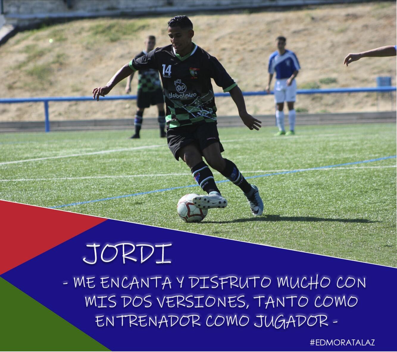Jordi: «Me encanta y disfruto mucho con mis dos versiones, tanto como jugador como entrenador»
