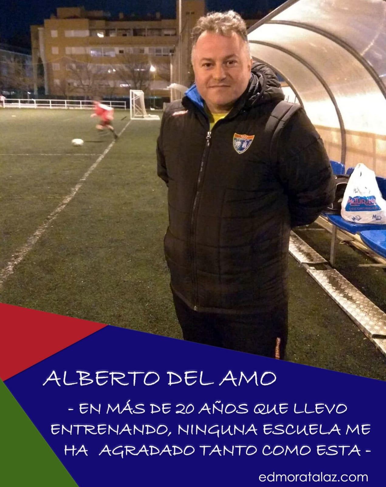 """Alberto del Amo: """"En más de 20 años que llevo entrenando, ninguna escuela me ha agradado tanto como esta"""""""