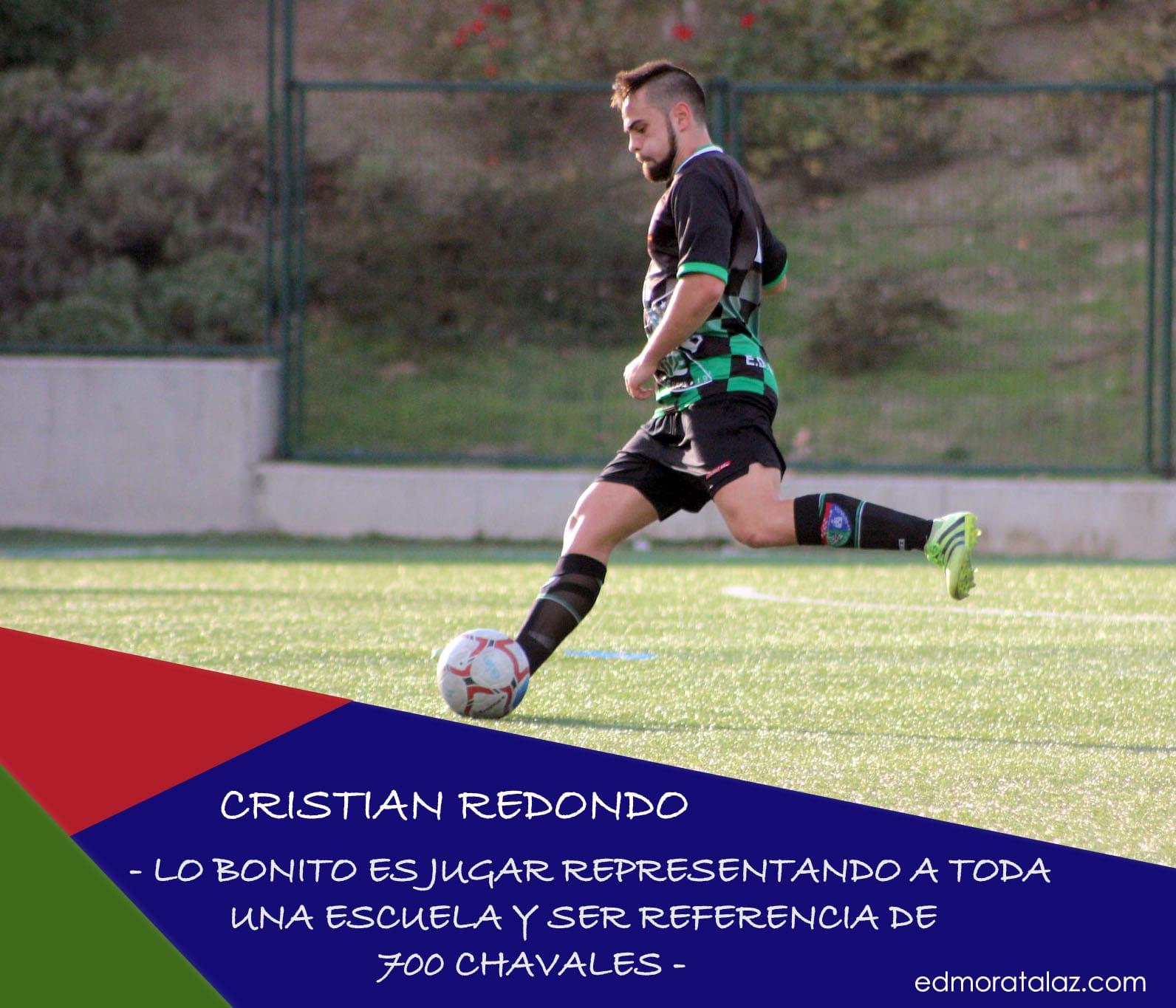 Cristian Redondo: «Lo bonito es jugar representando a toda una Escuela y ser referencia de 700 chavales»