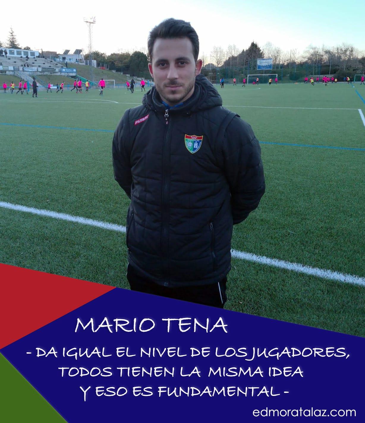 """Mario Tena: """"Da igual el nivel de los jugadores, todos tienen la misma idea y eso es fundamental"""""""