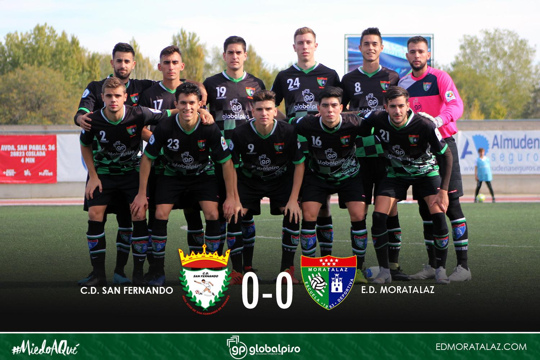 Justo empate del Primer Equipo en su visita al CD San Fernando