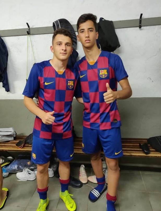 Barroso y Sorín están a prueba con el Juvenil A del FC Barcelona