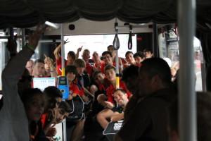 Ambiente en el autobús
