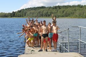 En el lago Harlanda