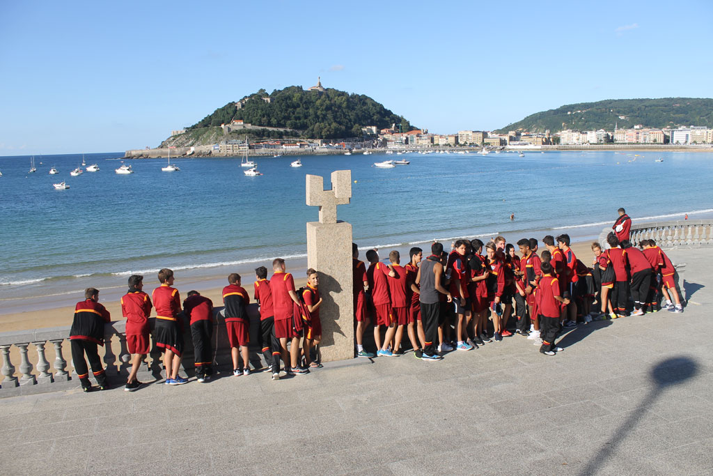 Fotos del viaje del Cadete A y del Infantil A a San Sebastián