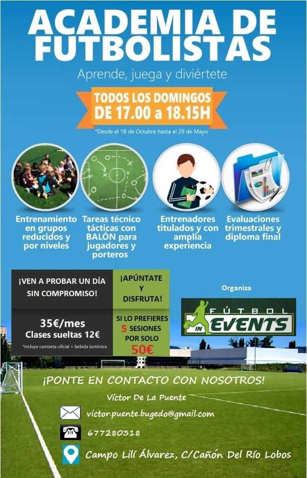 Fútbol-In Events organiza una Academia de Futbolistas