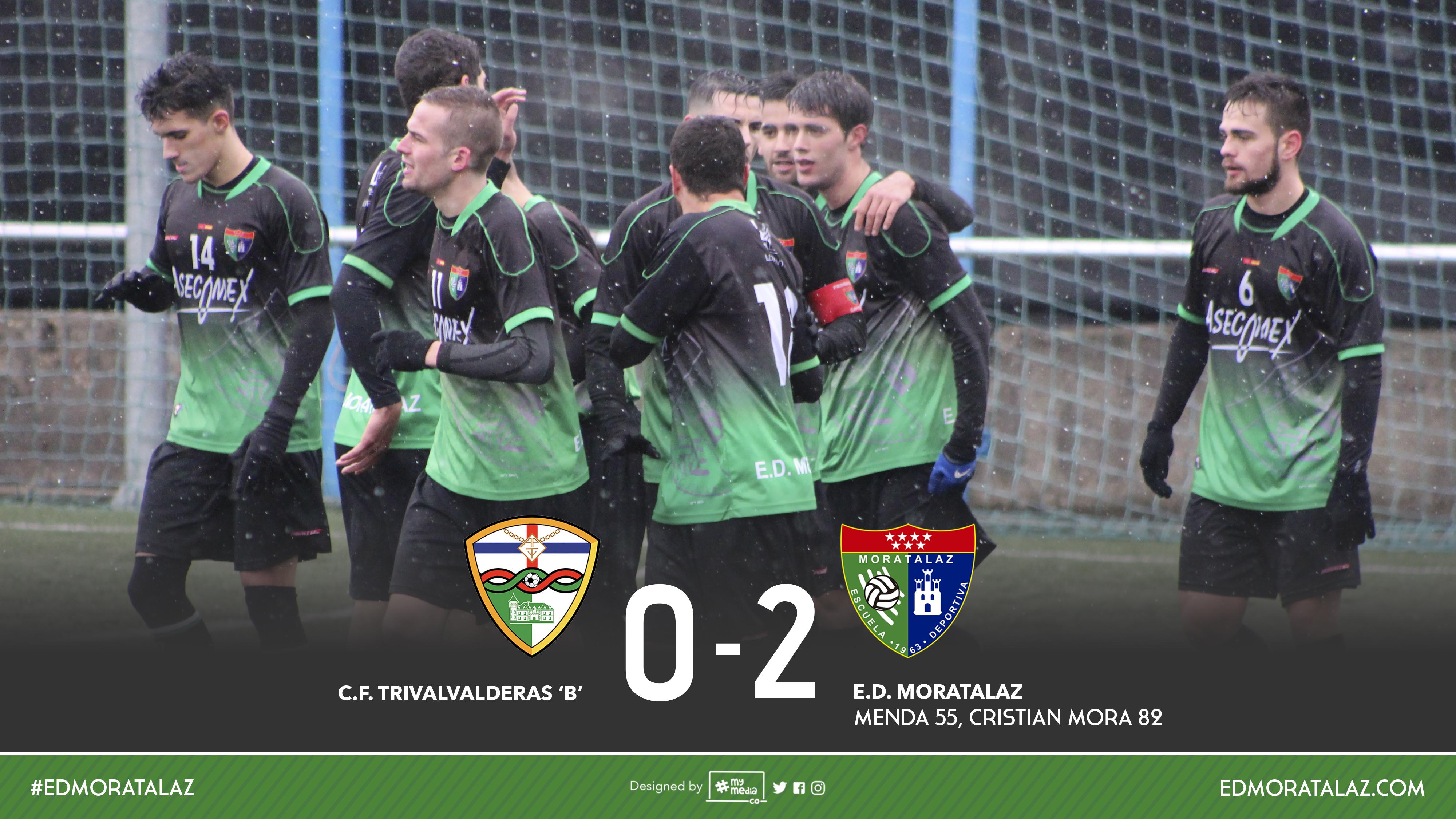 El primer equipo venció por 0-2 al TrivalValderas. Fotos y vídeo resumen
