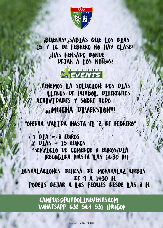 Fútbol In Events organizará un campus los días 15 y 16 de febrero en el Urbis