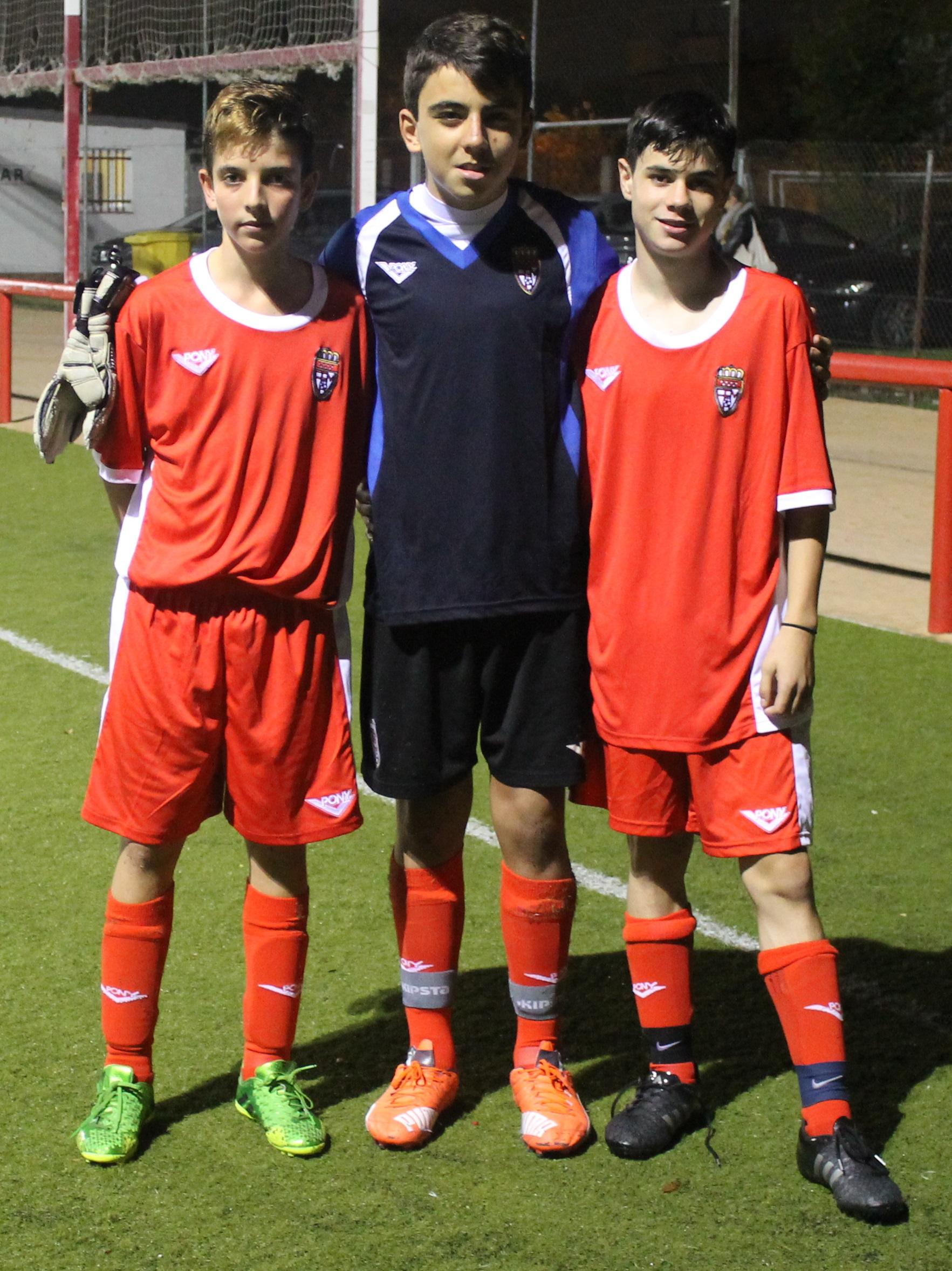 Tres jugadores del Infantil A, en la primera convocatoria de la temporada en el centro de tecnificación de la RFFM
