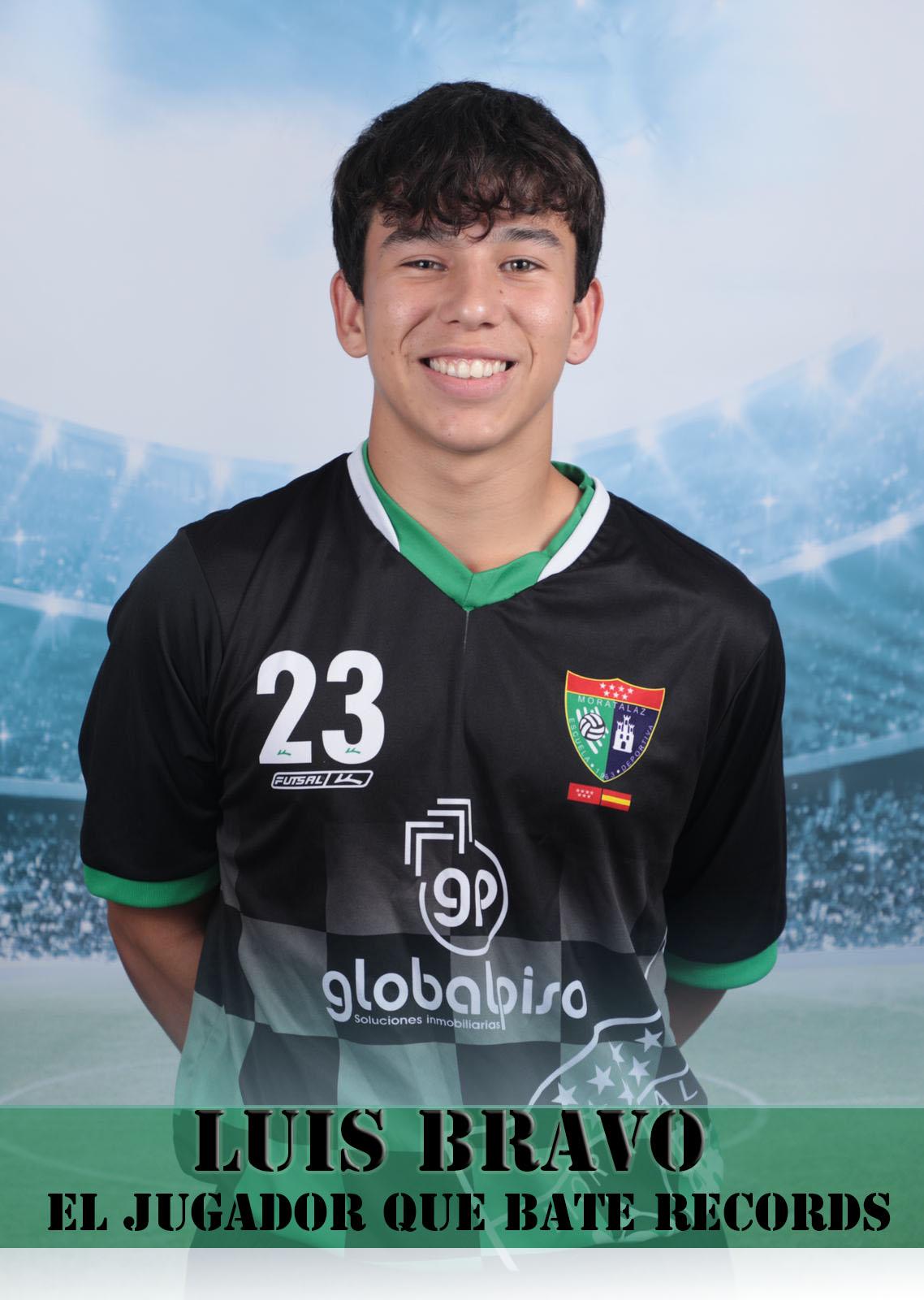 ¡Luis Bravo, el chico récord del Infantil A!