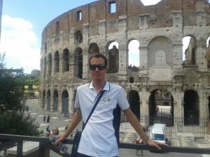 Villalba ante el Coliseo romano