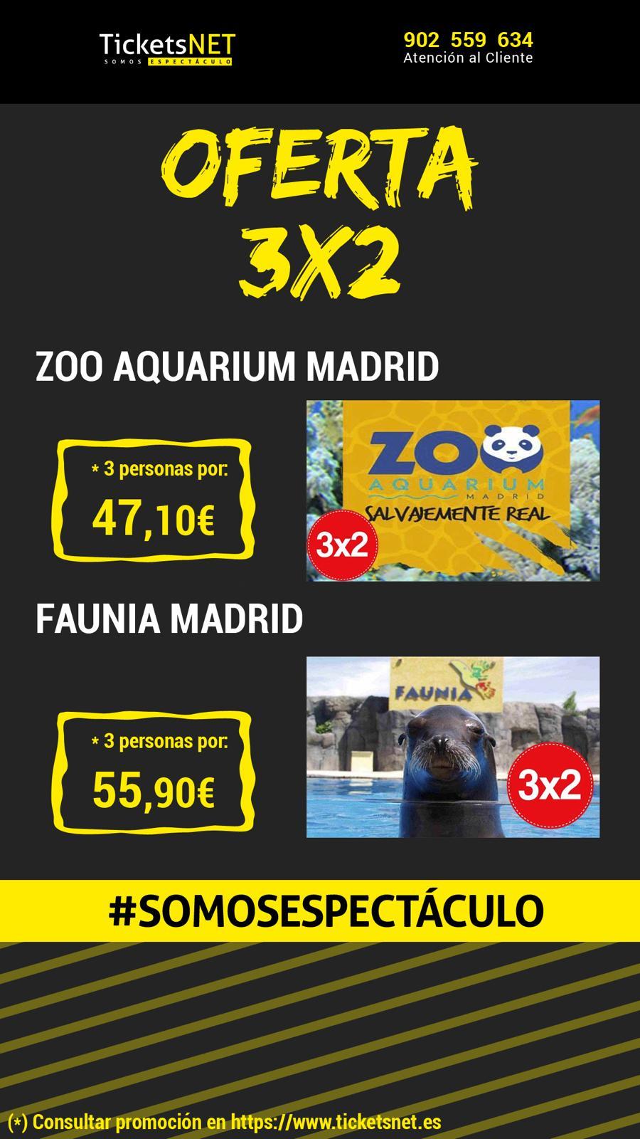 OFERTA TICKETSNET 3×2: FAUNIA Y ZOO AQUARIUM