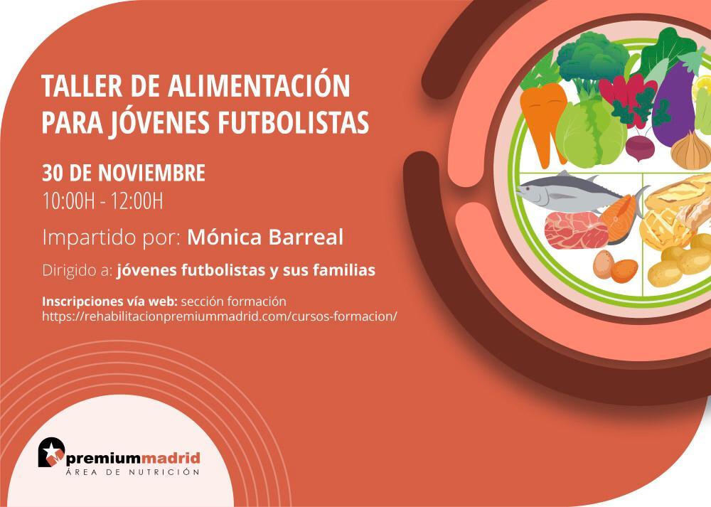Curso de Alimentación para jóvenes futbolistas | Nutrición Premium Madrid
