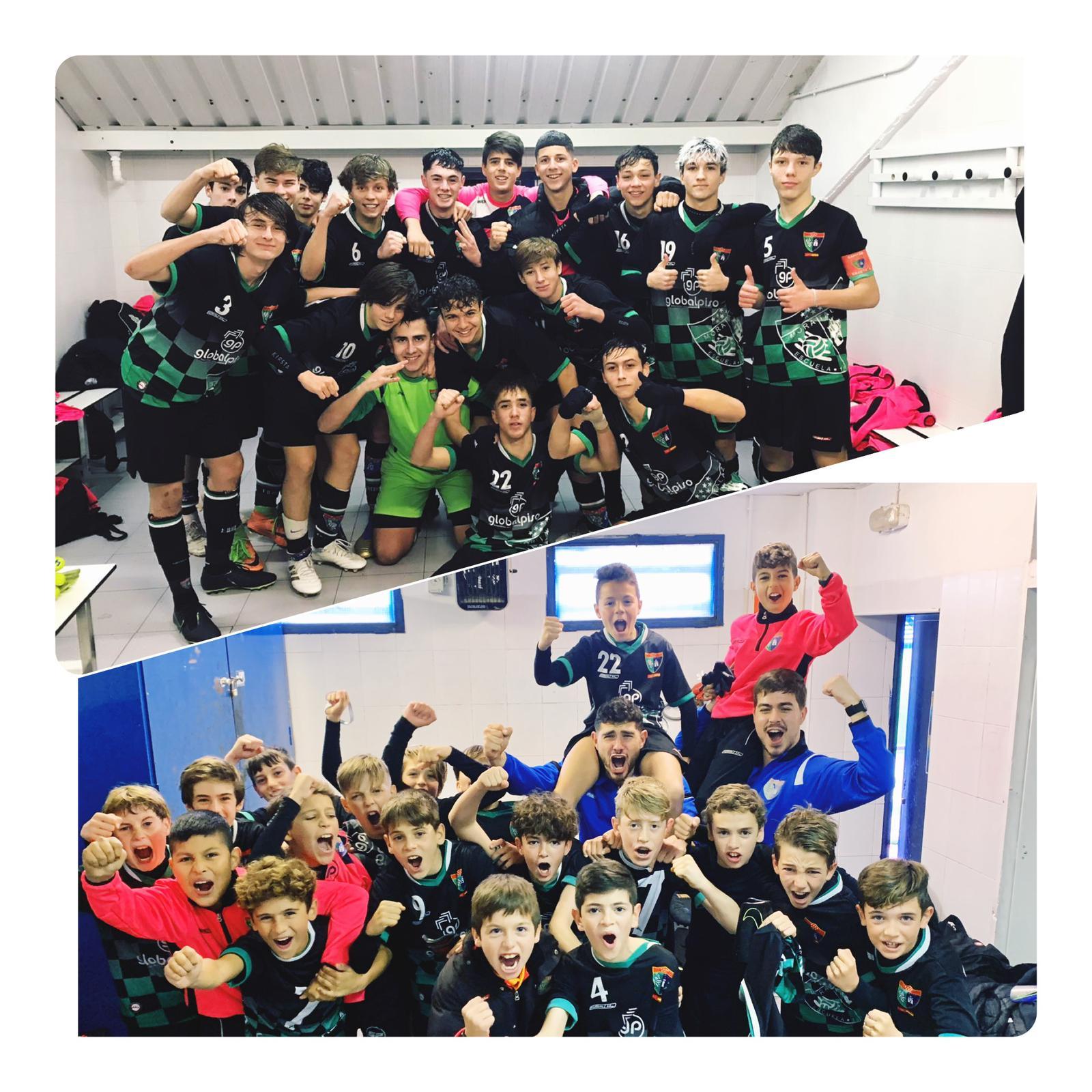 ¡Gran victoria del Cadete A y el Alevín A en la Ciudad Deportiva del Getafe!