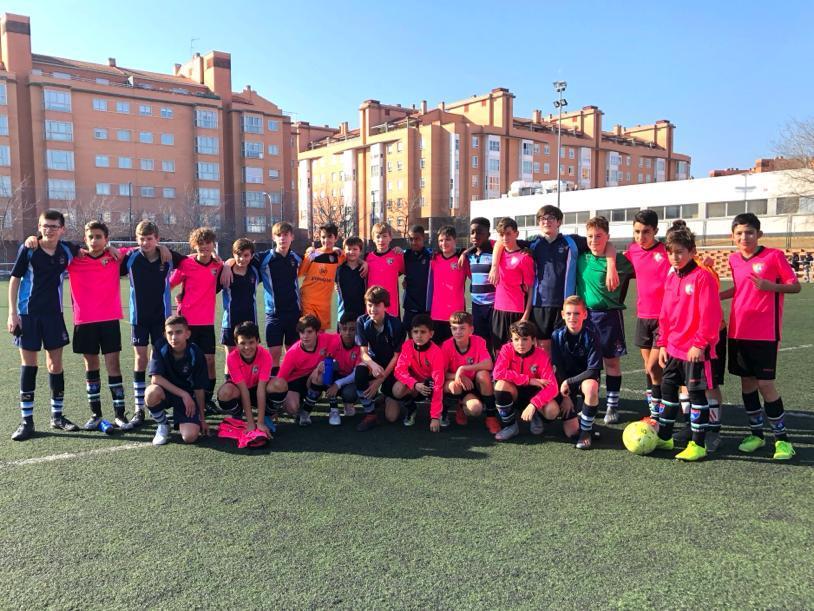 Gran partido amistoso entre Infantil E y F junto con un conjunto inglés
