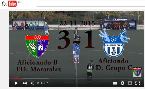Videoreportaje del partido de liga EDM Aficionado B 3 – 1 Grupo Cero
