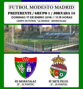 Previa del partido de liga EDM Primer Equipo - Siete Picos Colmenar