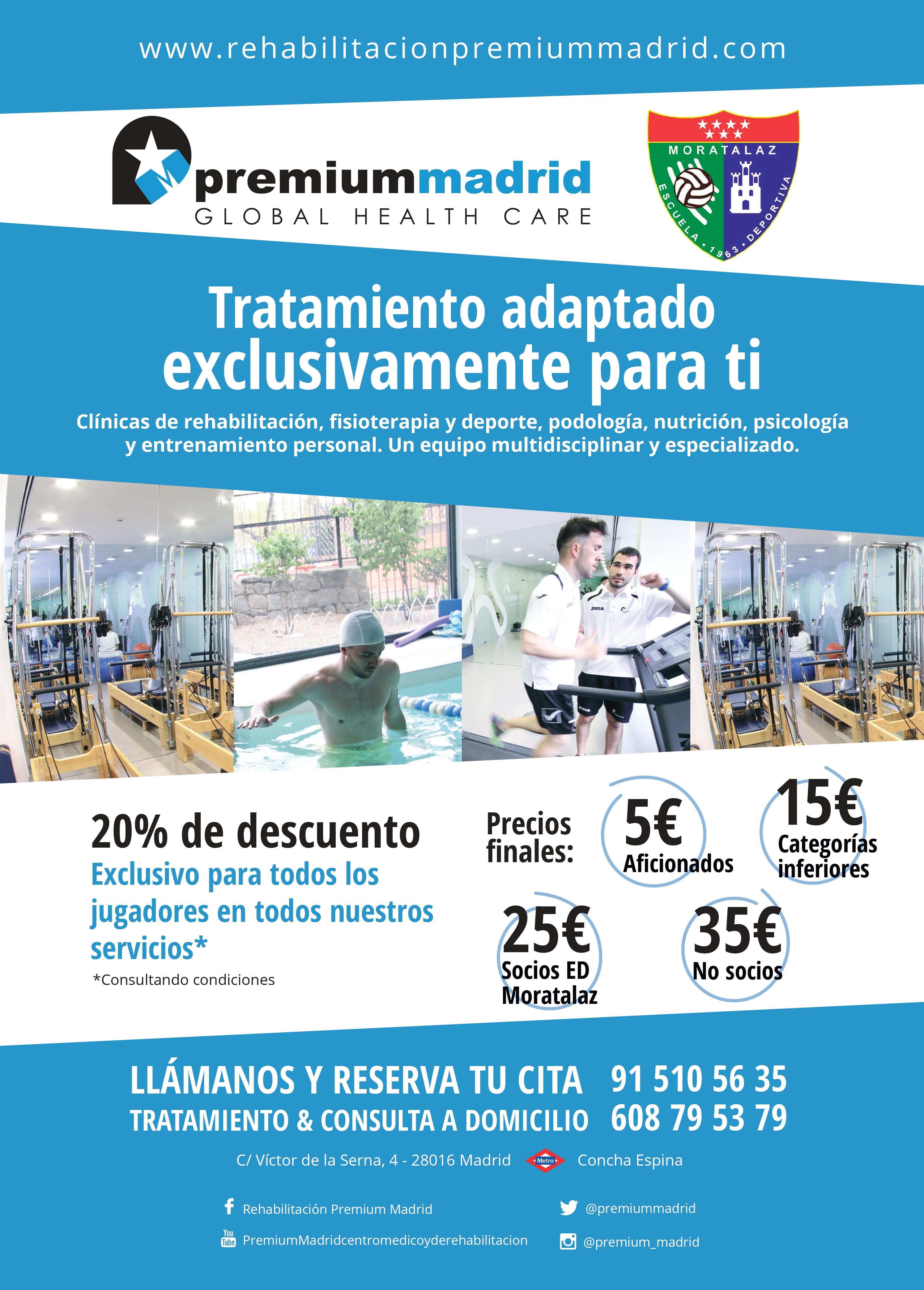La Escuela Deportiva Moratalaz en buenas manos con Premiummadrid