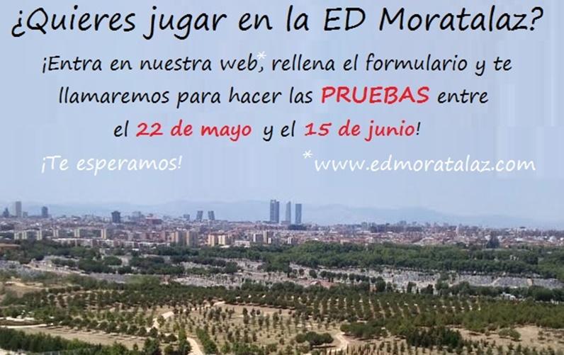 ¿Quieres jugar en la ED Moratalaz?