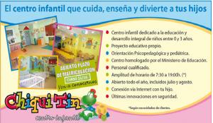 Anuncio del centro infantil Chiquitín